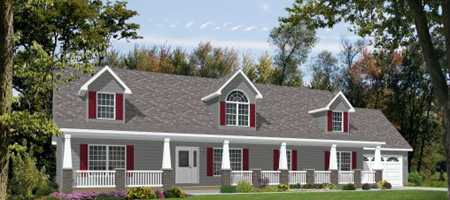 Artist's Rendering of The Entertainer II Modular Home (Pennwest Homes Model: HR170-AV)
