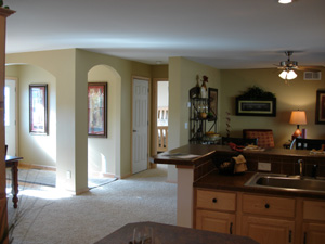 Click To Begin The Pennflex II Ranch Photo Tour - Model #: HR170-A - Kitchen Into Living Room and Entry Foyer