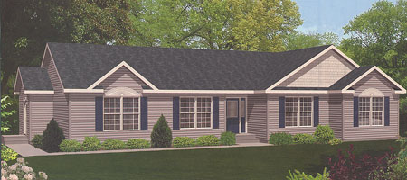 Artist's Rendering of The Berwick Ranch Modular Home (Pennwest Homes Model: HT102-A)