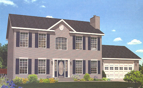 Artist's Rendering of The Providence II Two Story Modular Home (Pennwest Homes Model: HS111-A)